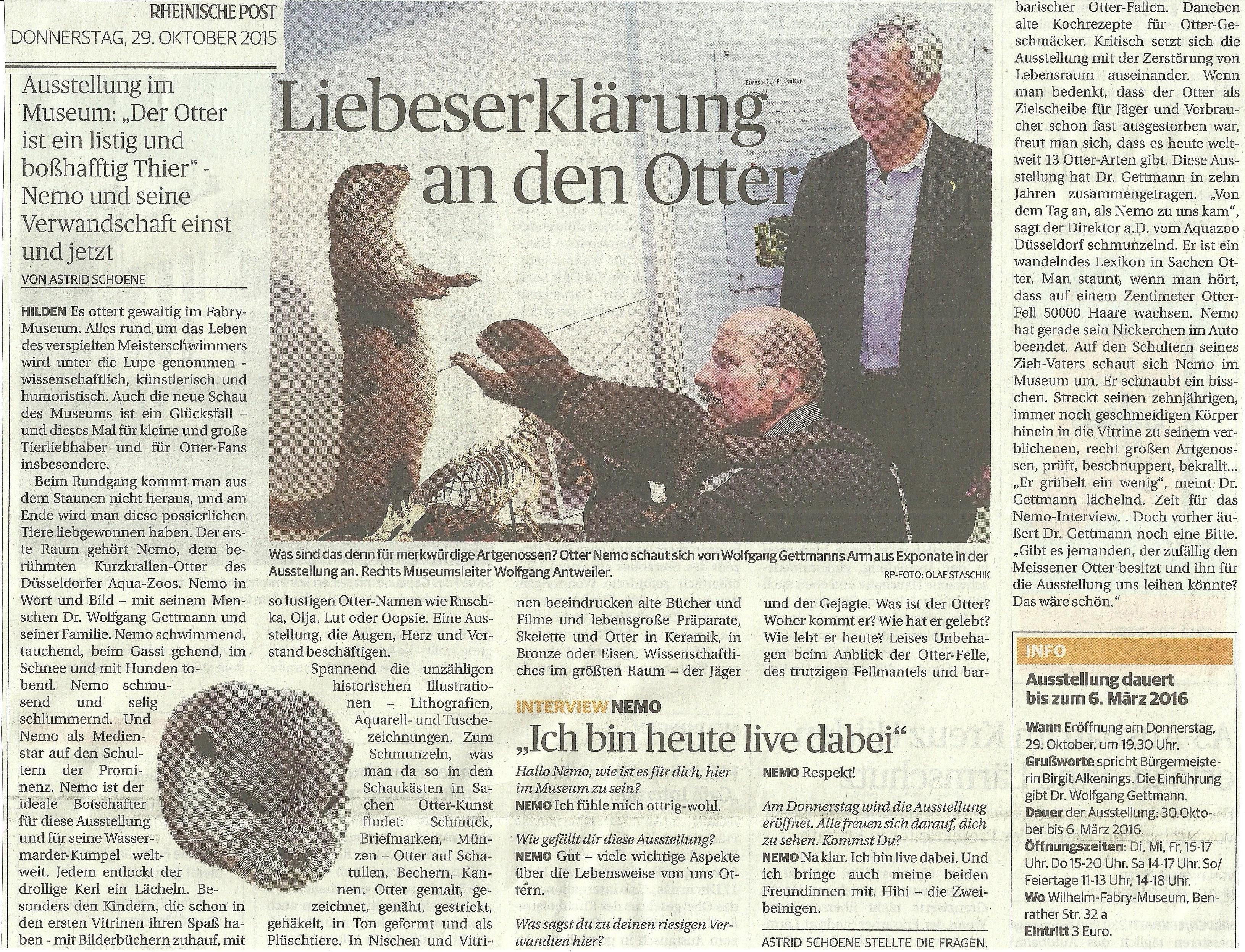 Fischotter-Ausstellung – wolfgang-gettmann.de